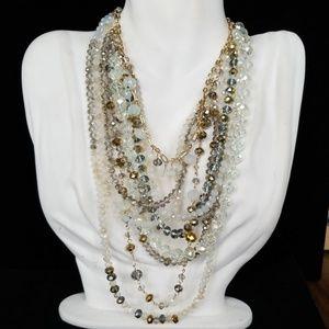 Amrita Singh Multi Layer Glass Bead Necklace NWT